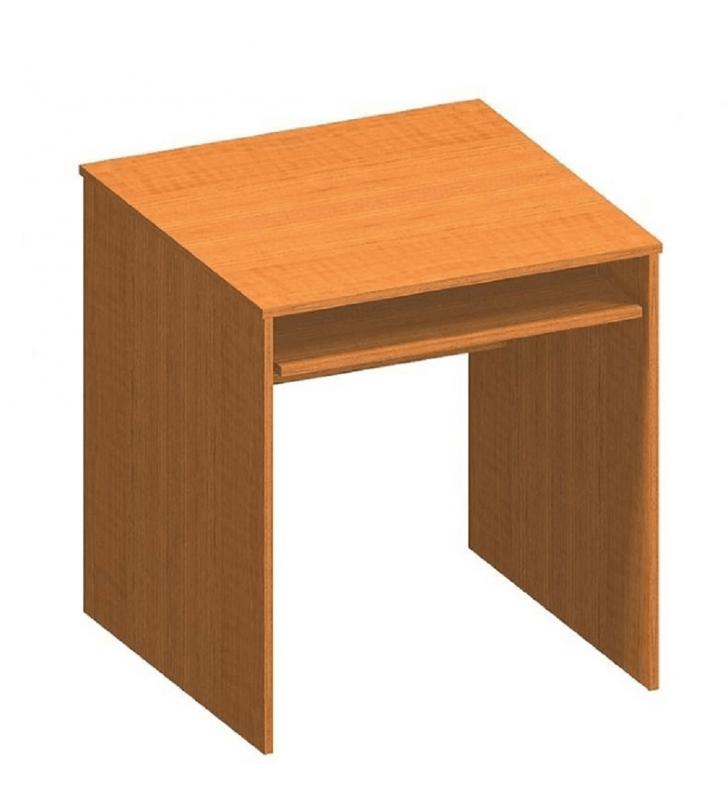 Íróasztal kihúzható billentyűzettartóval, cseresznye, TEMPO ASISTENT NEW 023
