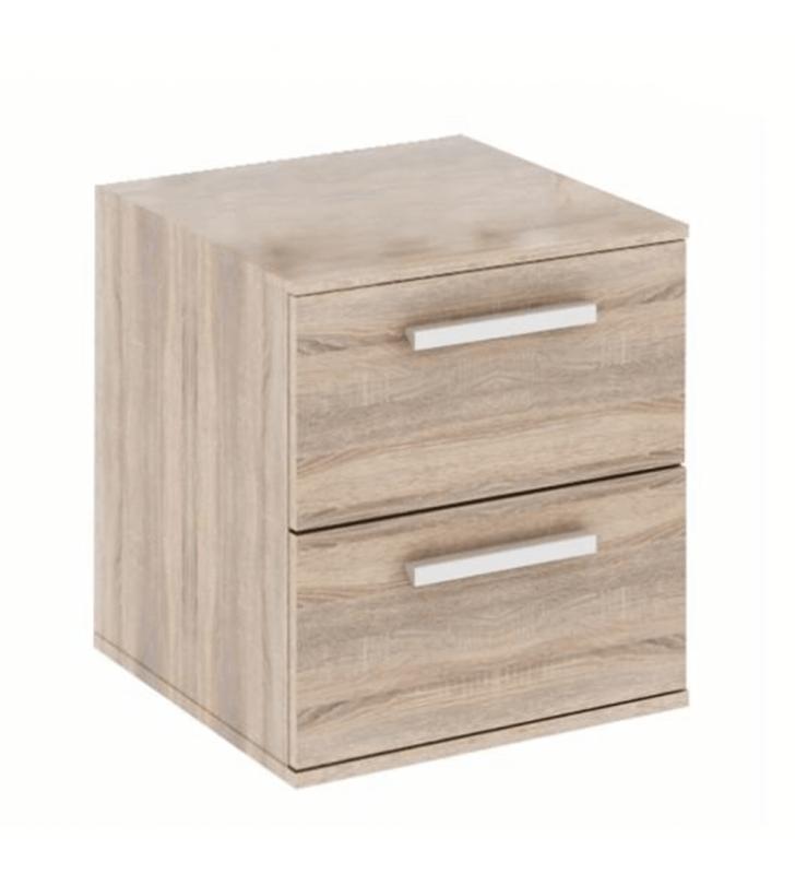 Alacsony szekrény 2 fiókkal keskeny, DTD laminált, tölgy sonoma, DUNAJ  TYP9
