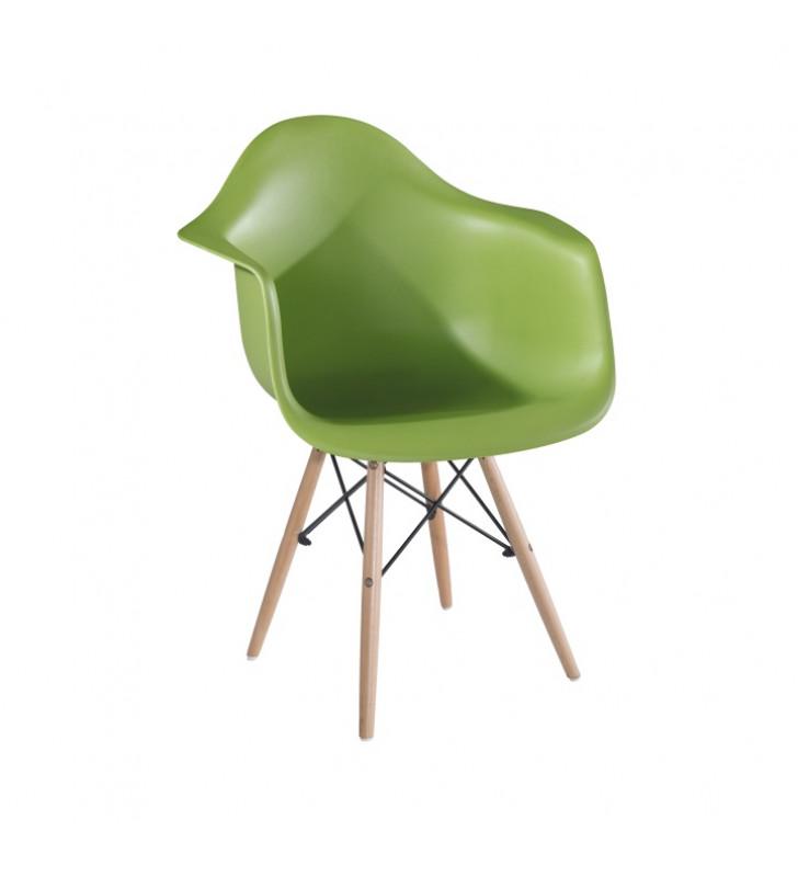 Fotel, zöld/bükk, DAMEN NEW