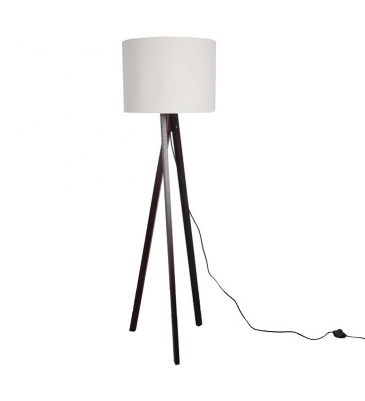 Állólámpa, fehér/fekete fa LILA TIP 9 LS6062