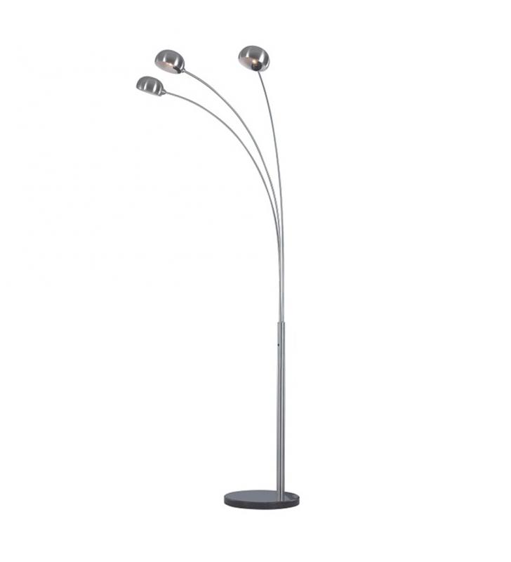 Állólámpa, szürke fém/márvány,  CINDA TIP 1 YF04-3