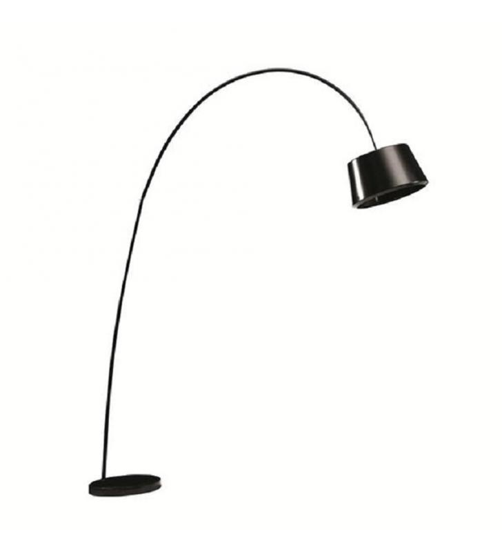 Állólámpa, fekete/márvány,  CINDA TIP 18 F1090
