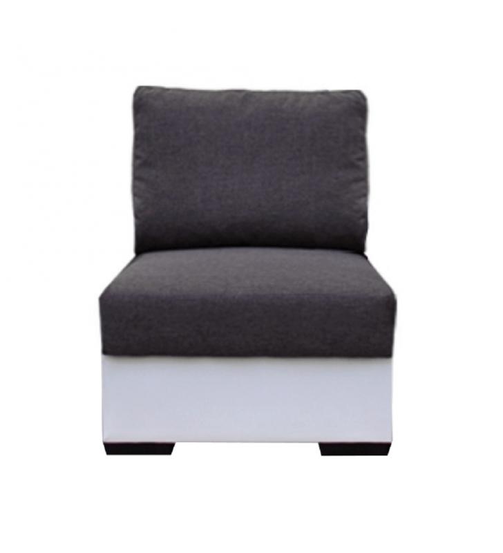 1-személyes kanapé, fehér/szürke, OREGON 1SED-06
