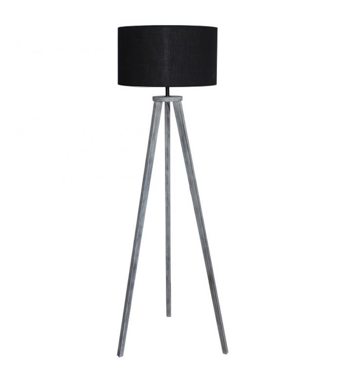 Állólámpa, fekete/szürke, JADE TYP 10 6034-41B