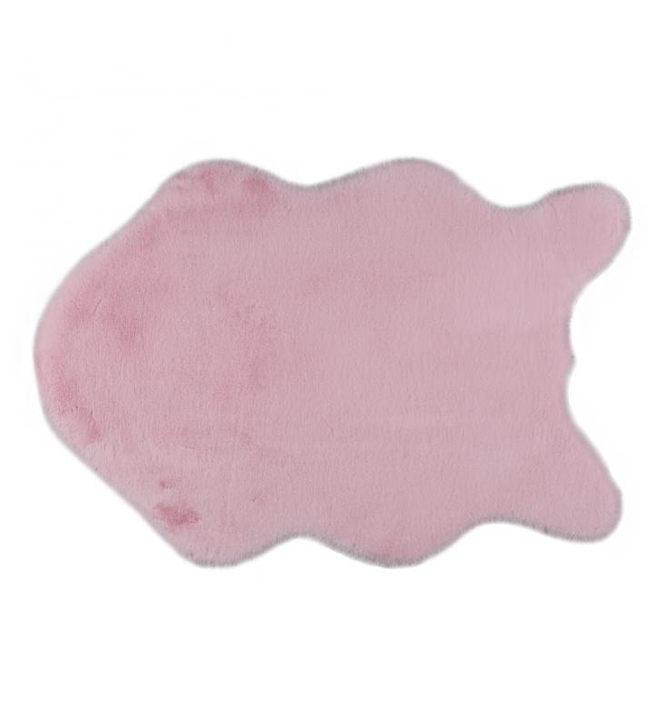 Műszőrme, rózsaszín, 60x90, RABIT TYP 5