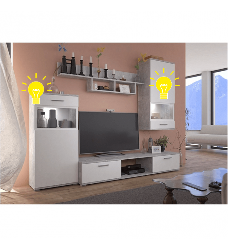 Led megvilágítás nappali bútorhoz, BREAK