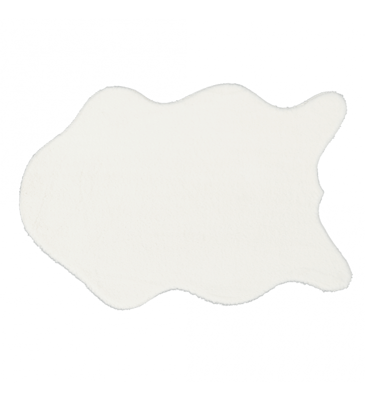 Műszőrme, fehér, 60x90, RABIT NEW TYP 7