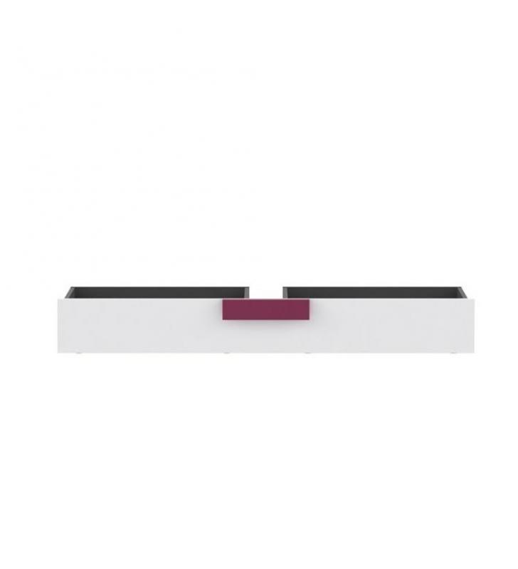 Ágy alatti tároló, szürke / fehér / lila, LOBETE 83
