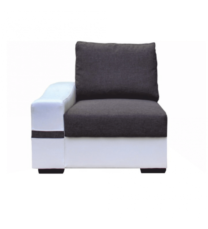 1-es ülőrész, fehér/szürke, balos, OREGON 04-1SED+BOK