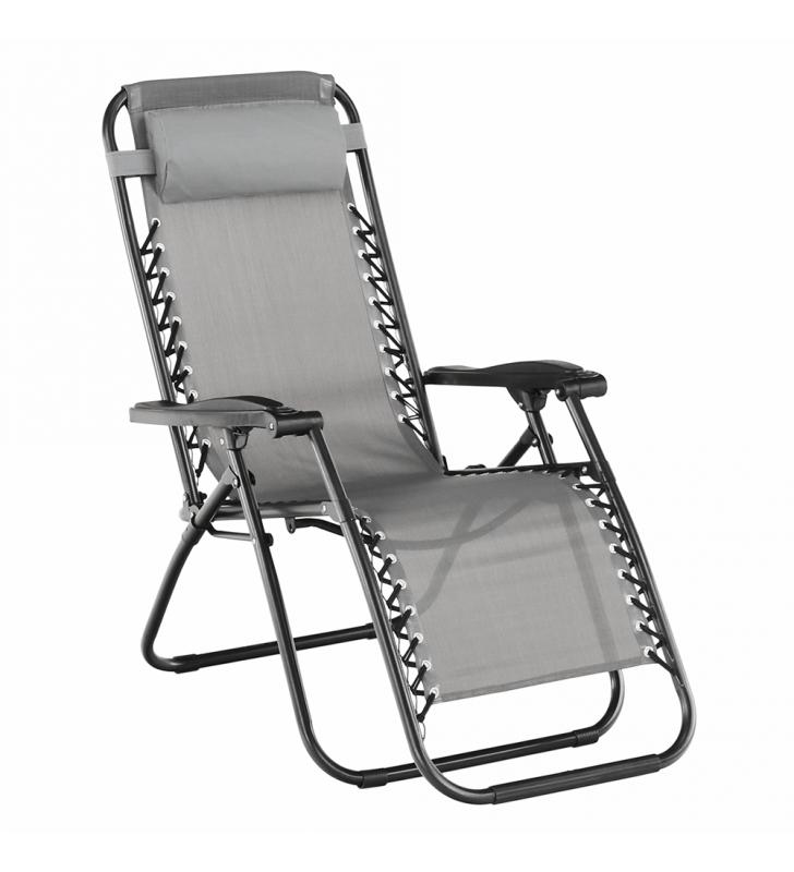 Állítható kerti szék, világosszürke, GERALD