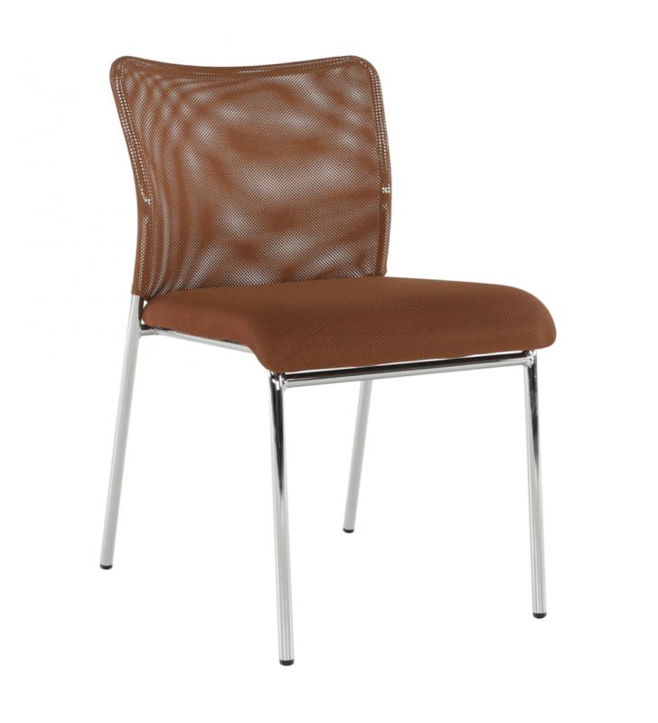 Irodai szék, barna/króm, ALTAN