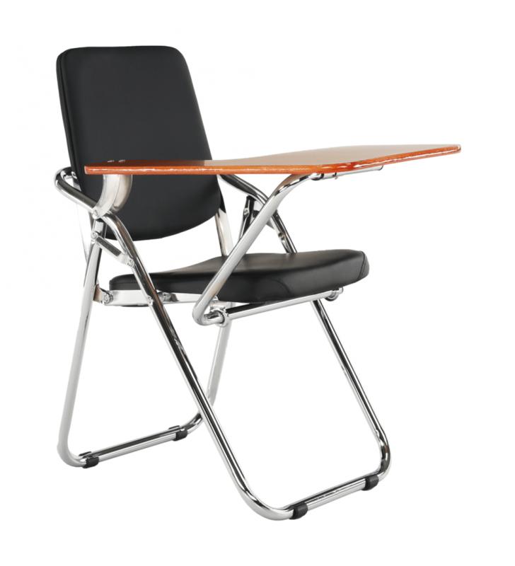 Írólapos szék, fekete/natúr, SONER