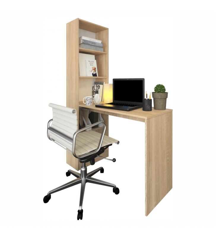 Többfunkciós íróasztal, tölgy sonoma, JASMIN