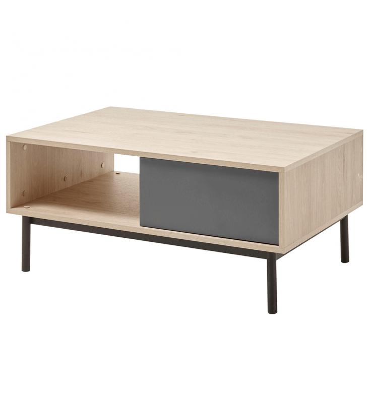 Kisasztal, tölgy jackson hickory/grafit, BERGEN BL104
