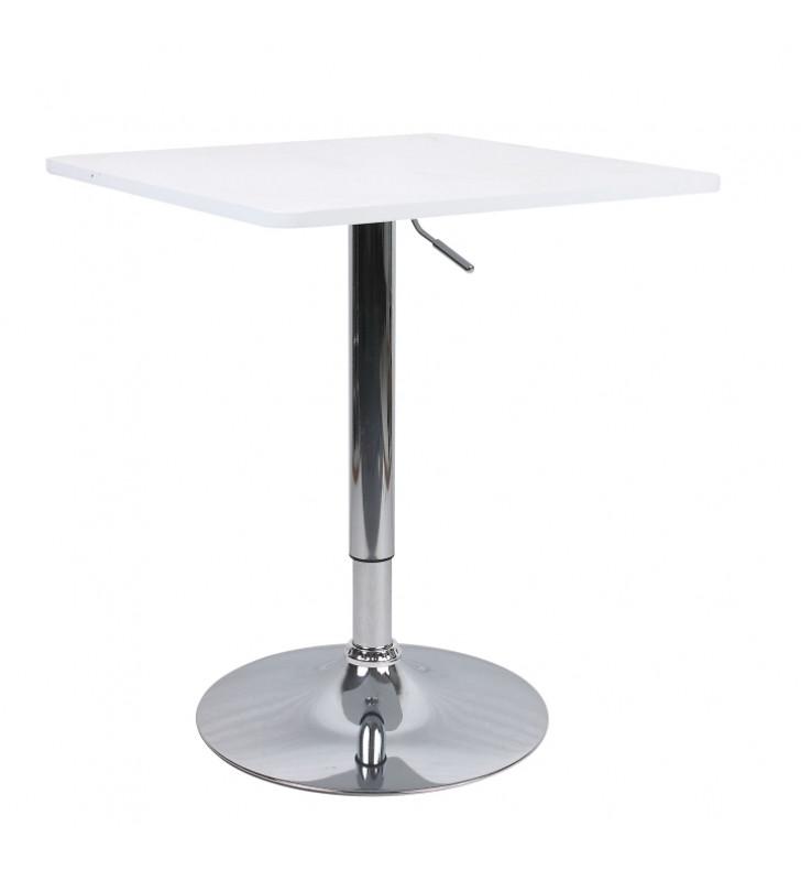 Bár asztal állítható magasságú, fehér, FLORIAN 2 NEW