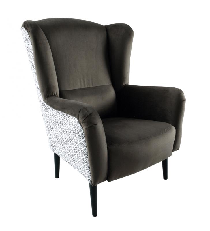 Design fotel, Velvet anyag barna/minta Terra, BELEK