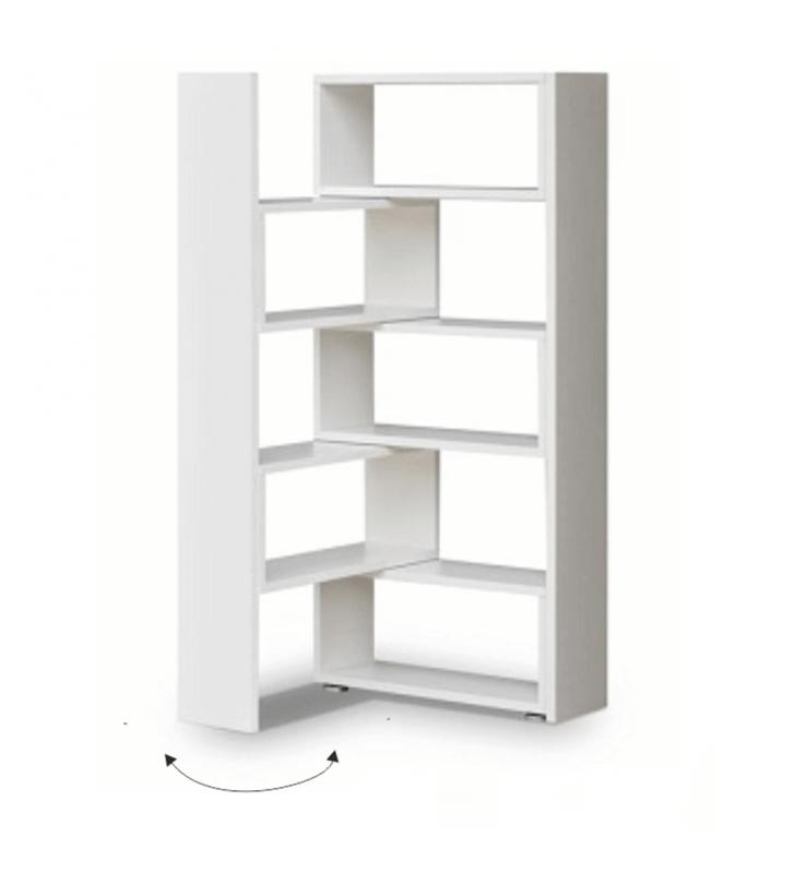 Könyvespolc, fehér, KLOE II