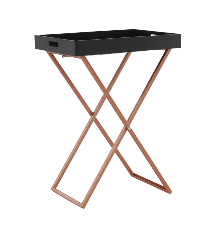 Tálalóasztal, fekete/réz, MASINO