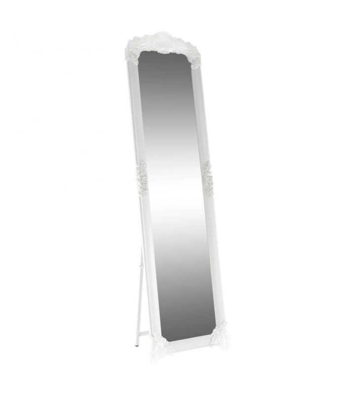 Álló tükör, fehér/ezüst, CASIUS