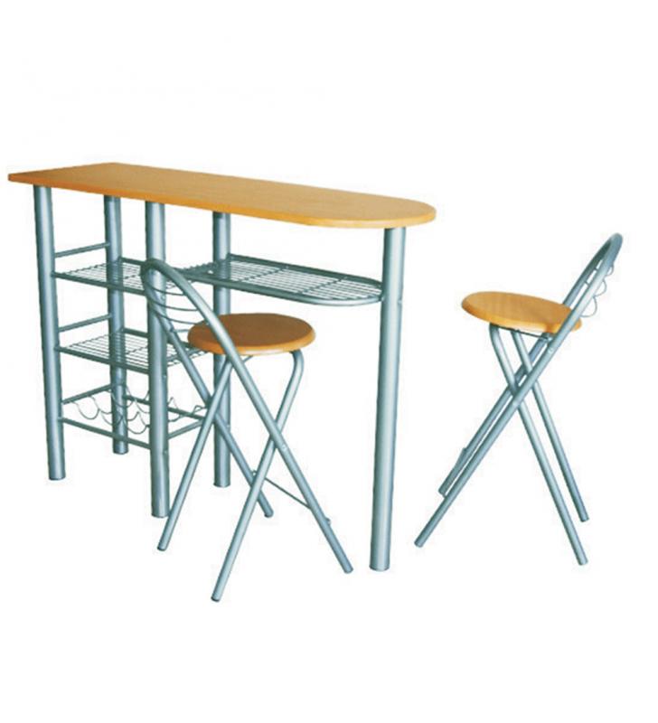 Étkezőgarnitúra, bárasztal + 2 db szék, BOXER