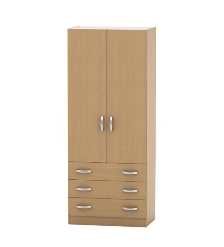 2 ajtós szekrény 3 fiókkal,bükk, BETTY 2 BE02-001-00
